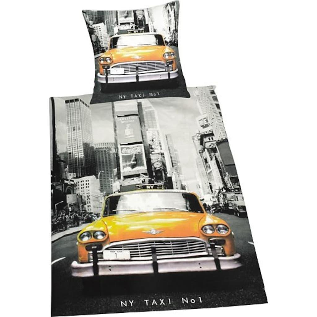 Herding Young Collection Bettwäsche »Taxi«, mit Motiv