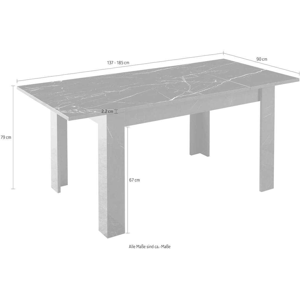 LC Esstisch »Mango«,Breite 137 cm, ausziehbar auf 187 cm