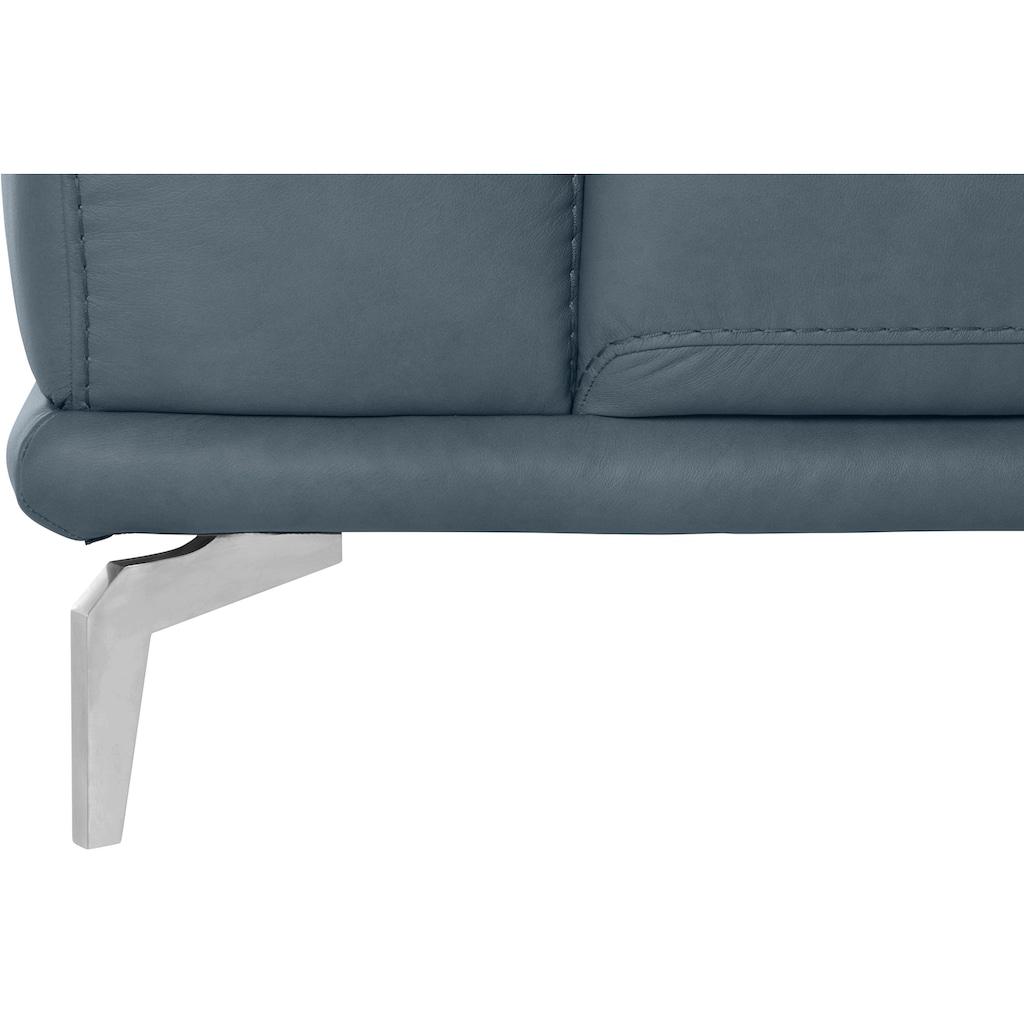 W.SCHILLIG 2,5-Sitzer »montanaa«, mit Metallfüßen in Chrom glänzend, Breite 232 cm