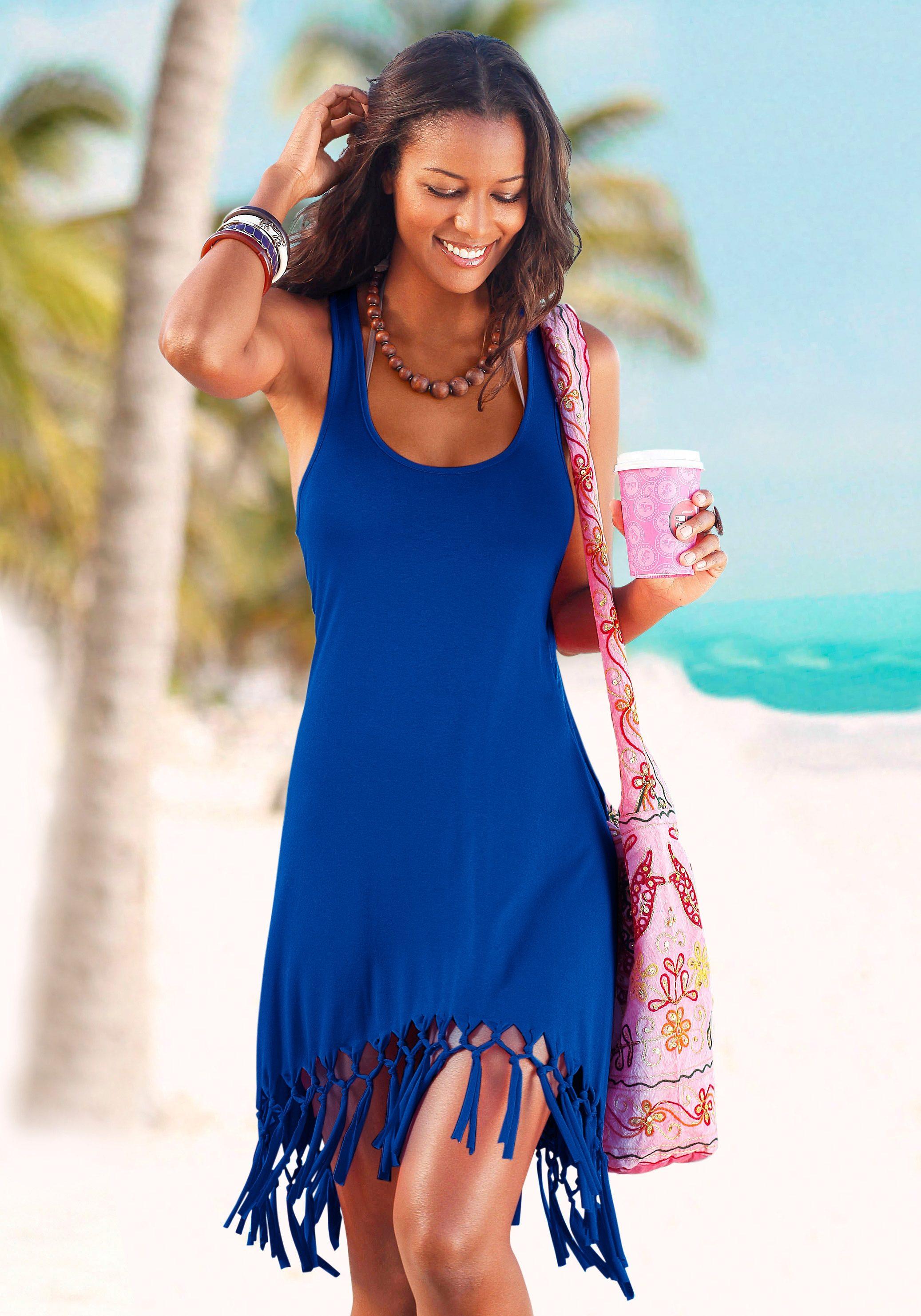 Beach Time Longshirt mit Fransen Preisvergleich