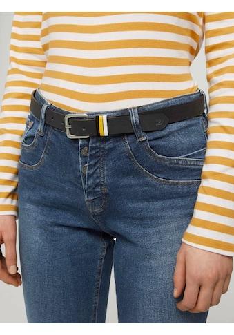 TOM TAILOR Denim Ledergürtel »Veloursleder Gürtel mit farbigen Schlaufen« kaufen