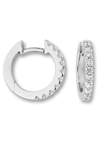ONE ELEMENT Paar Creolen »Orhringe / Creolen aus 585 Weißgold mit 0,50 ct Diamant« kaufen