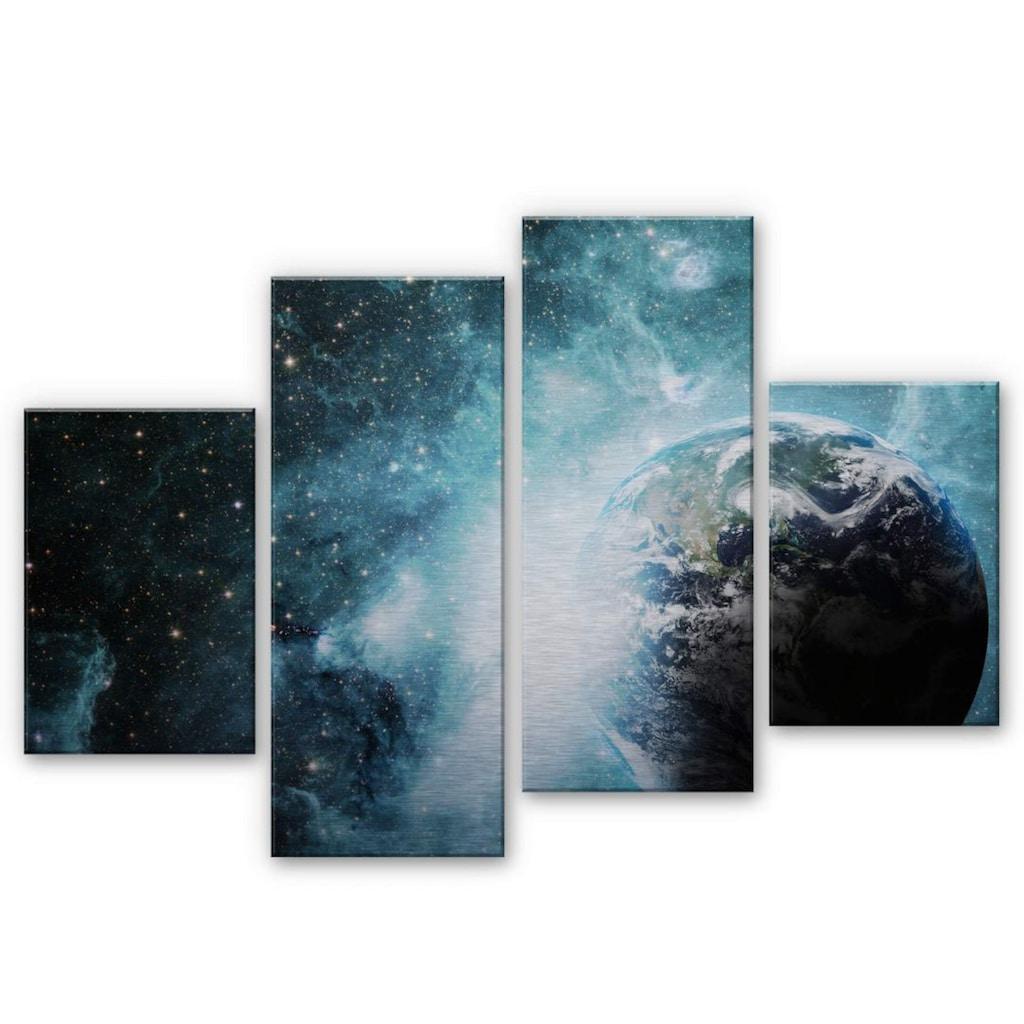 Wall-Art Mehrteilige Bilder »Universum In einer fernen Galaxie«, (Set, 4 St.)