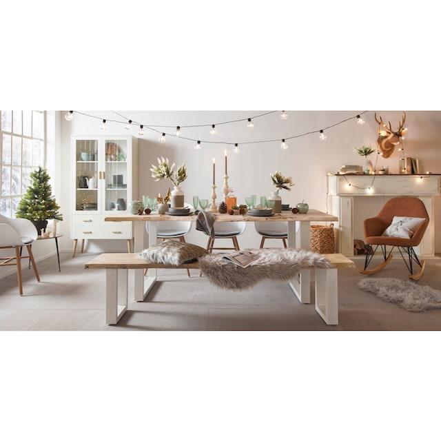 Hochflor-Teppich, »Dena«, Home affaire, fellförmig, Höhe 60 mm, maschinell getuftet