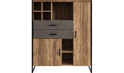set one by Musterring Highboard »Modesto«, mit 2 Schubladen und 2 Türen, Breite 104... kaufen