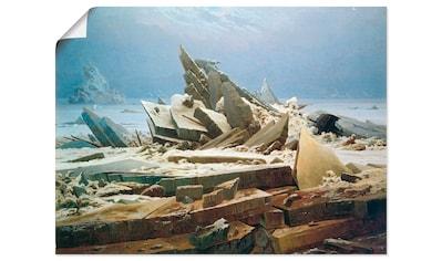 Artland Wandbild »Das Eismeer«, Gewässer, (1 St.), in vielen Größen & Produktarten... kaufen