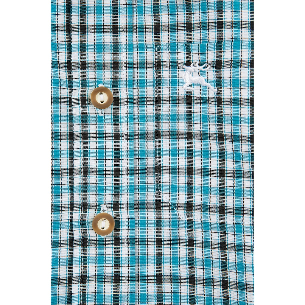 OS-Trachten Trachtenhemd, in moderner Karo-Optik