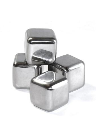 STONELINE Küchenhelfer-Set, (4 tlg.), Edelstahl-Eiswürfel, wiederverwendbar kaufen