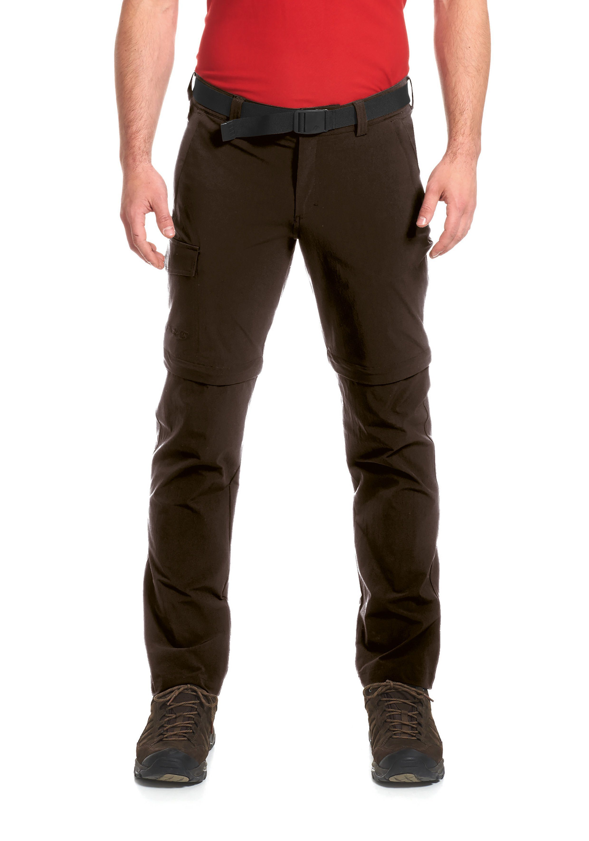Maier Sports Funktionshose Torid slim zip | Sportbekleidung > Sporthosen | Braun | Maier Sports