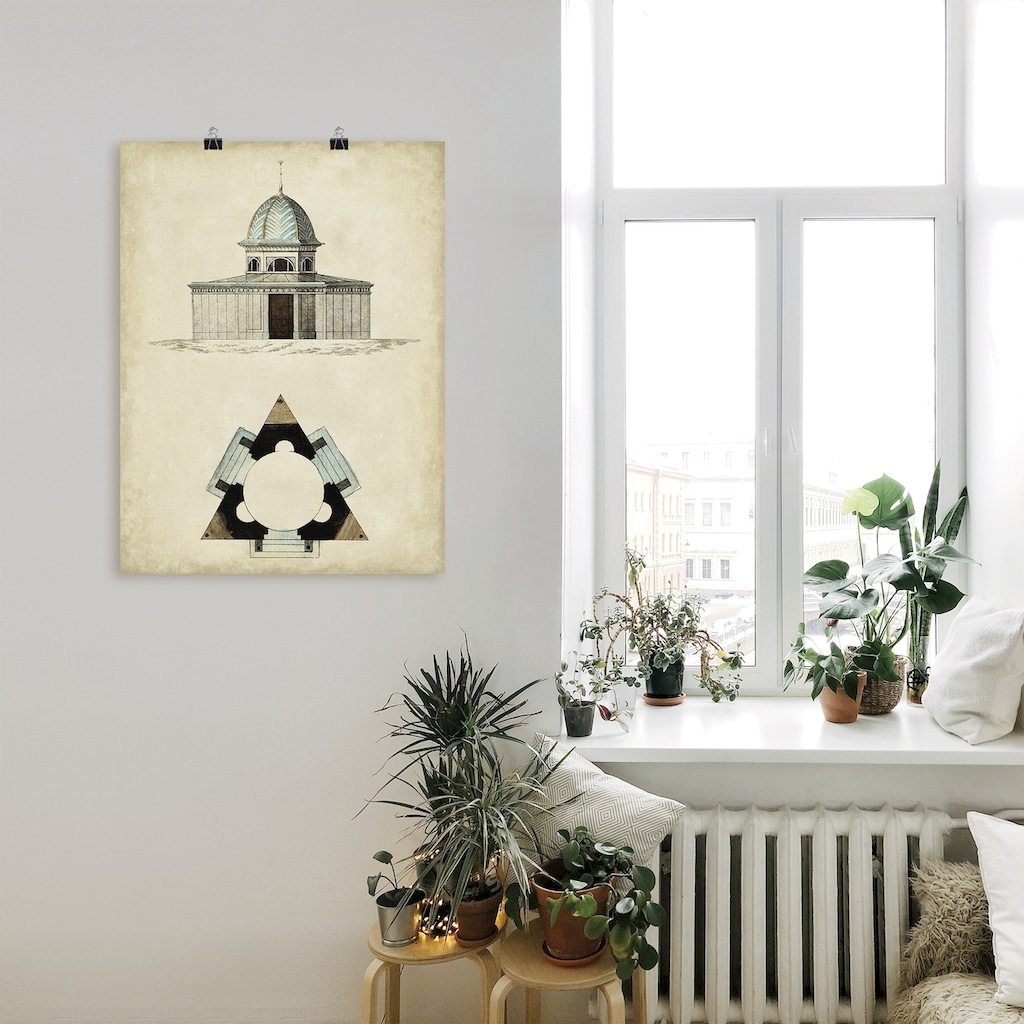 Artland Wandbild »Gartentore I«, Architektonische Elemente, (1 St.), in vielen Größen & Produktarten - Alubild / Outdoorbild für den Außenbereich, Leinwandbild, Poster, Wandaufkleber / Wandtattoo auch für Badezimmer geeignet