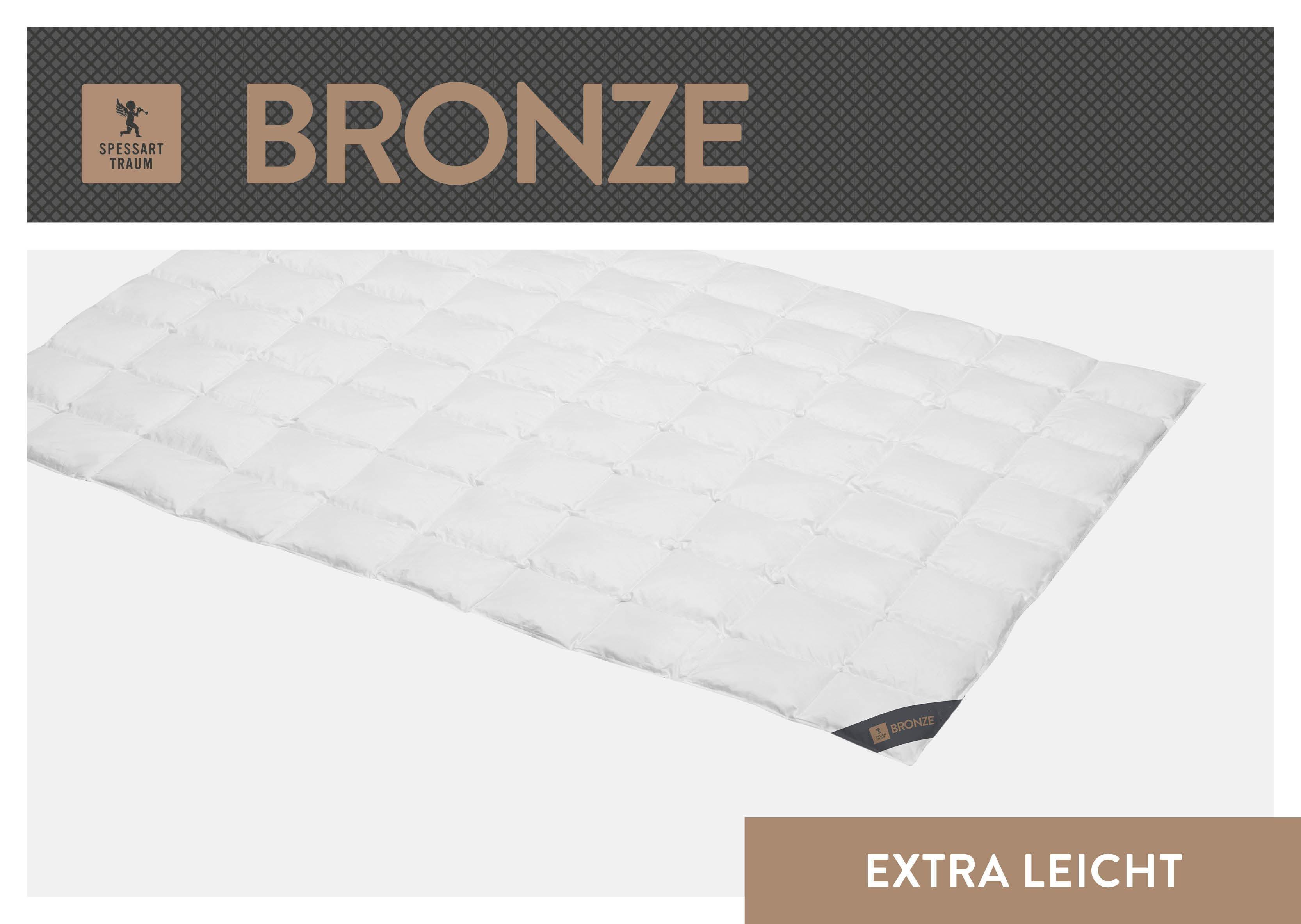 Daunenbettdecke Bronze SPESSARTTRAUM extraleicht Füllung: 90% Daunen 10% Federn Bezug: 100% Baumwolle