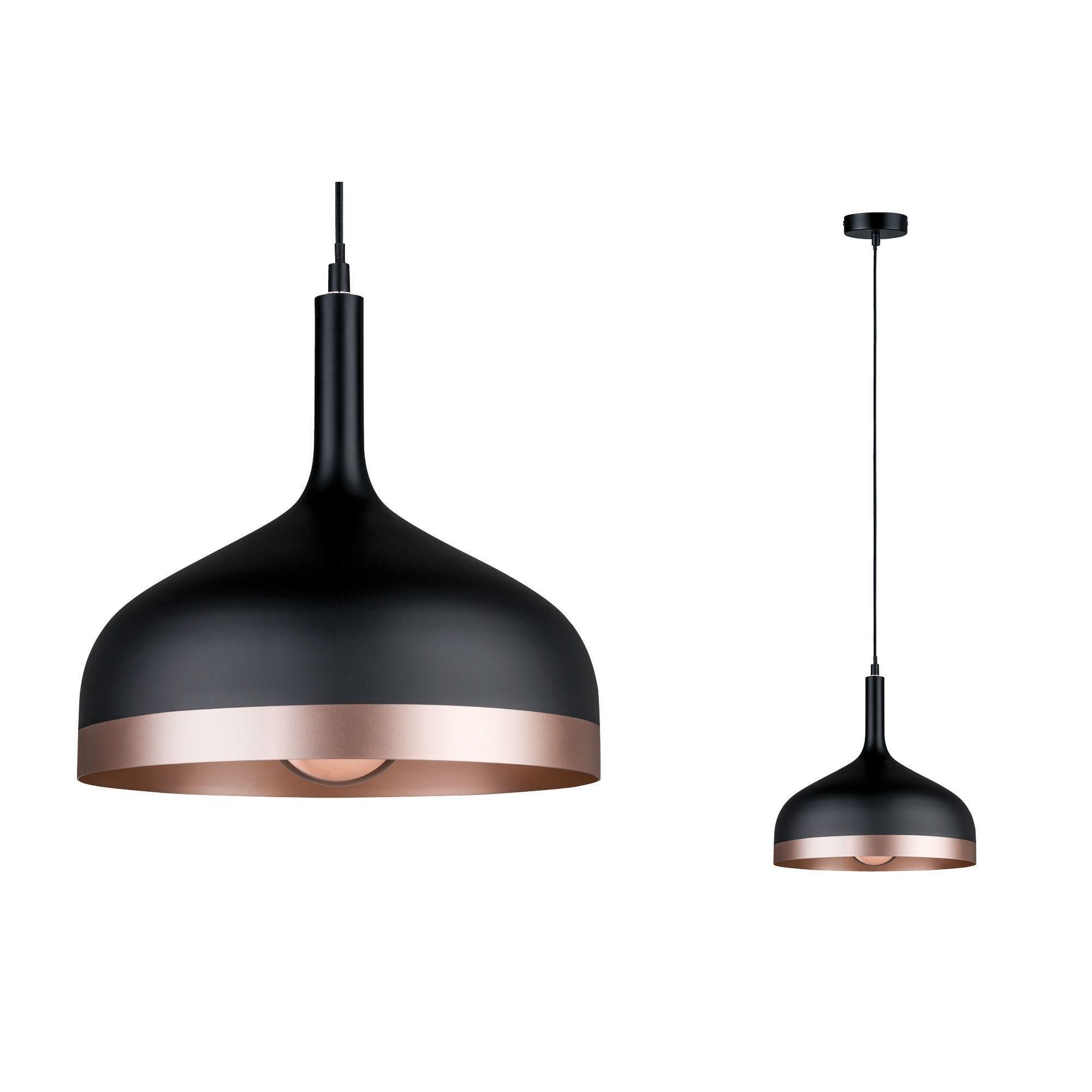 Paulmann LED Pendelleuchte Neordic Embla Schwarz/Kupfer, E27, 1 St. günstig online kaufen