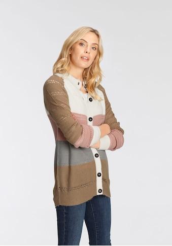 Boysen's Ajourstrickjacke, kuschelig weich und elastisch - NEUE KOLLEKTION kaufen