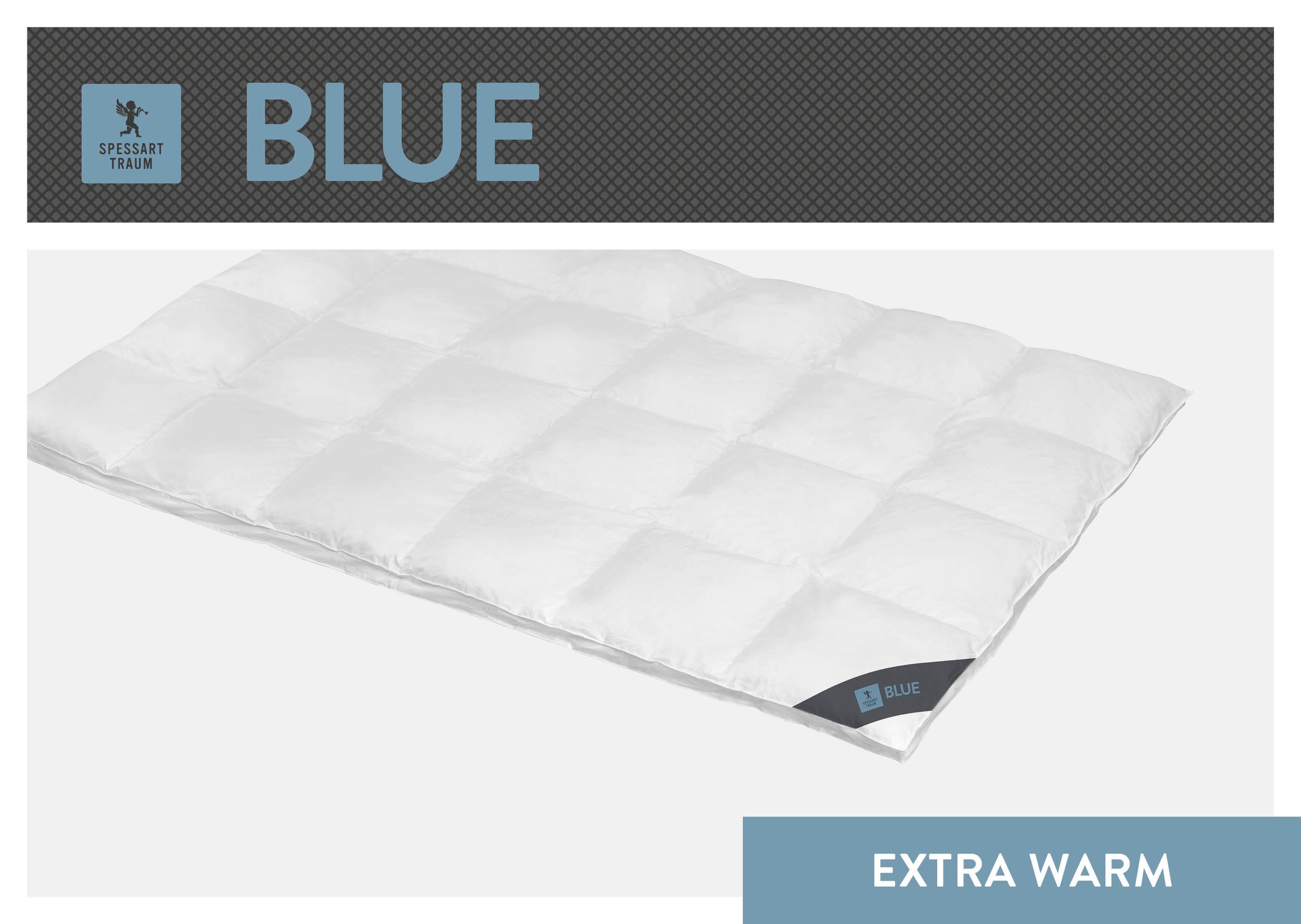 Daunenbettdecke Blue SPESSARTTRAUM extrawarm Füllung: 60% Daunen 40% Federn Bezug: 100% Baumwolle