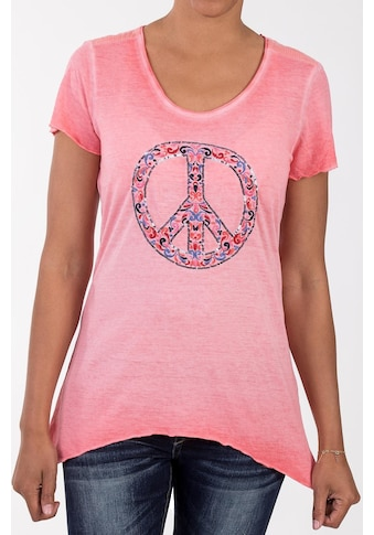 Blue Monkey Zipfelshirt, mit Front Applikation Peace kaufen