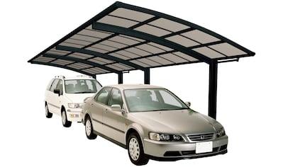 Ximax Doppelcarport »Portoforte Typ 60 Tandem-schwarz«, Aluminium, 254 cm, schwarz,... kaufen