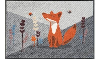 wash+dry by Kleen-Tex Fußmatte »Füchsin Emma«, rechteckig, 9 mm Höhe, Schmutzfangmatte kaufen