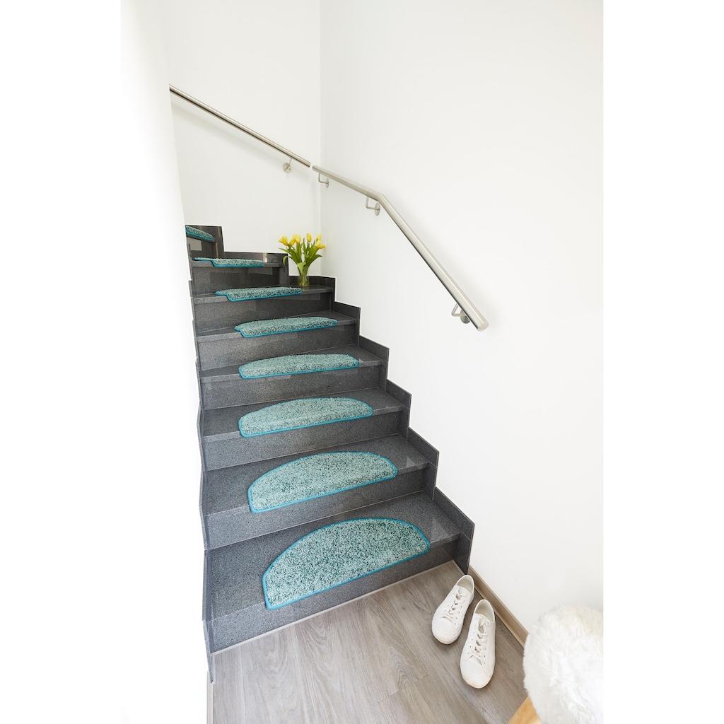 Andiamo Stufenmatte »Shaggy«, rechteckig, 15 mm Höhe, große Farbauswahl, 15 Stück in einem Set