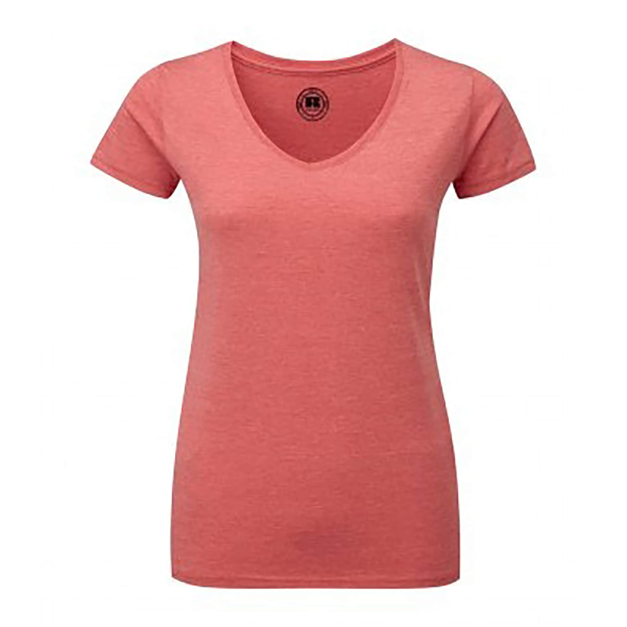 Russell T-Shirt Damen HD mit V-Ausschnitt kurzärmlig