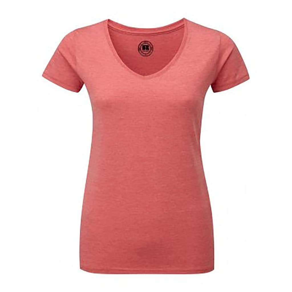 Russell T-Shirt »Damen HD mit V-Ausschnitt, kurzärmlig«