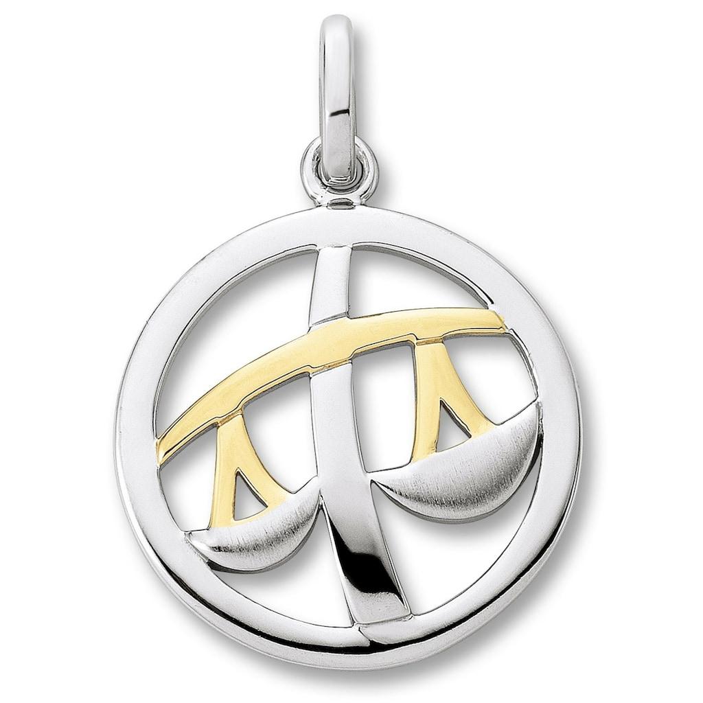 ONE ELEMENT Kettenanhänger »Sternzeichen Anhänger Waage aus 925 Silber«