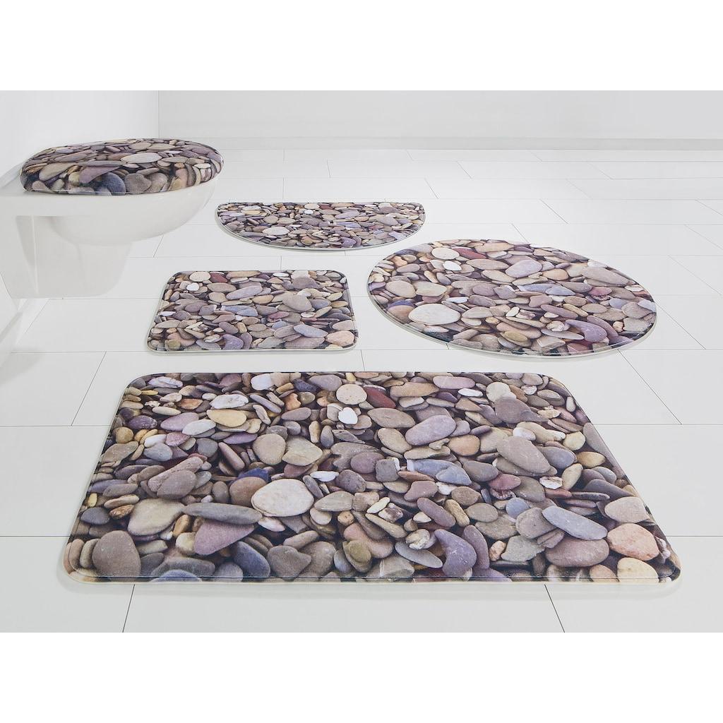 my home Badematte »Steine«, Höhe 14 mm, rutschhemmend beschichtet-Memory Schaum