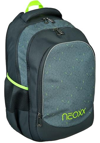 neoxx Schulrucksack »Fly, Boom«, Reflektionsnaht, aus recycelten PET-Flaschen kaufen