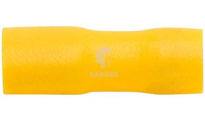 RAMSES Flachsteckhülsen , vollisoliert gelb 4  -  6 mm² 6,3 x 0,8 100 Stück kaufen