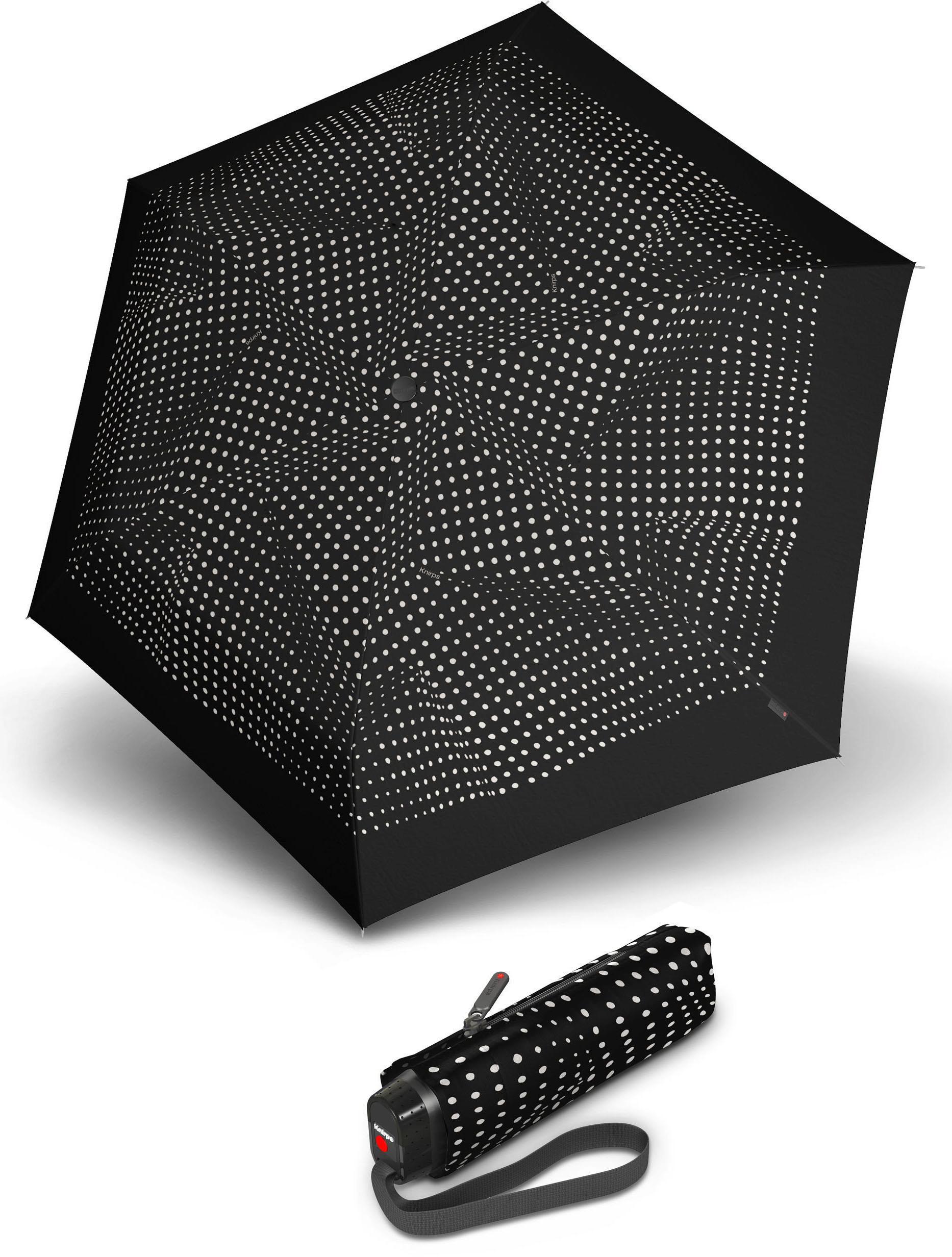 Knirps® Regenschirm - Taschenschirm, »TS.010 Slim Small Manual bolero black/ecru« | Accessoires > Regenschirme | Schwarz | KNIRPS
