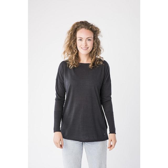 super.natural Damen Langarm Shirt Mit Merinowolle W TRAVEL LS