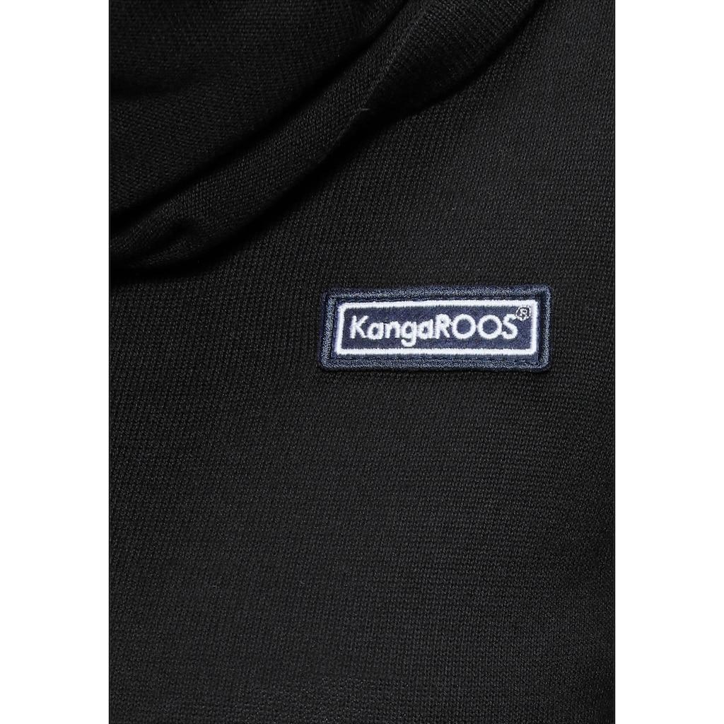 KangaROOS Strickpullover, mit modischem Kragen in Schlauchschal-Form