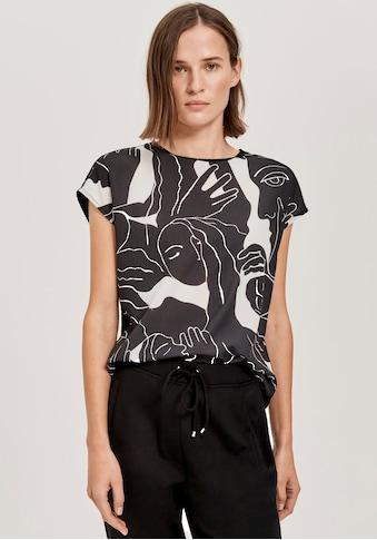 OPUS T-Shirt »Sablo Print«, mit kunstvollem Allover-Print kaufen