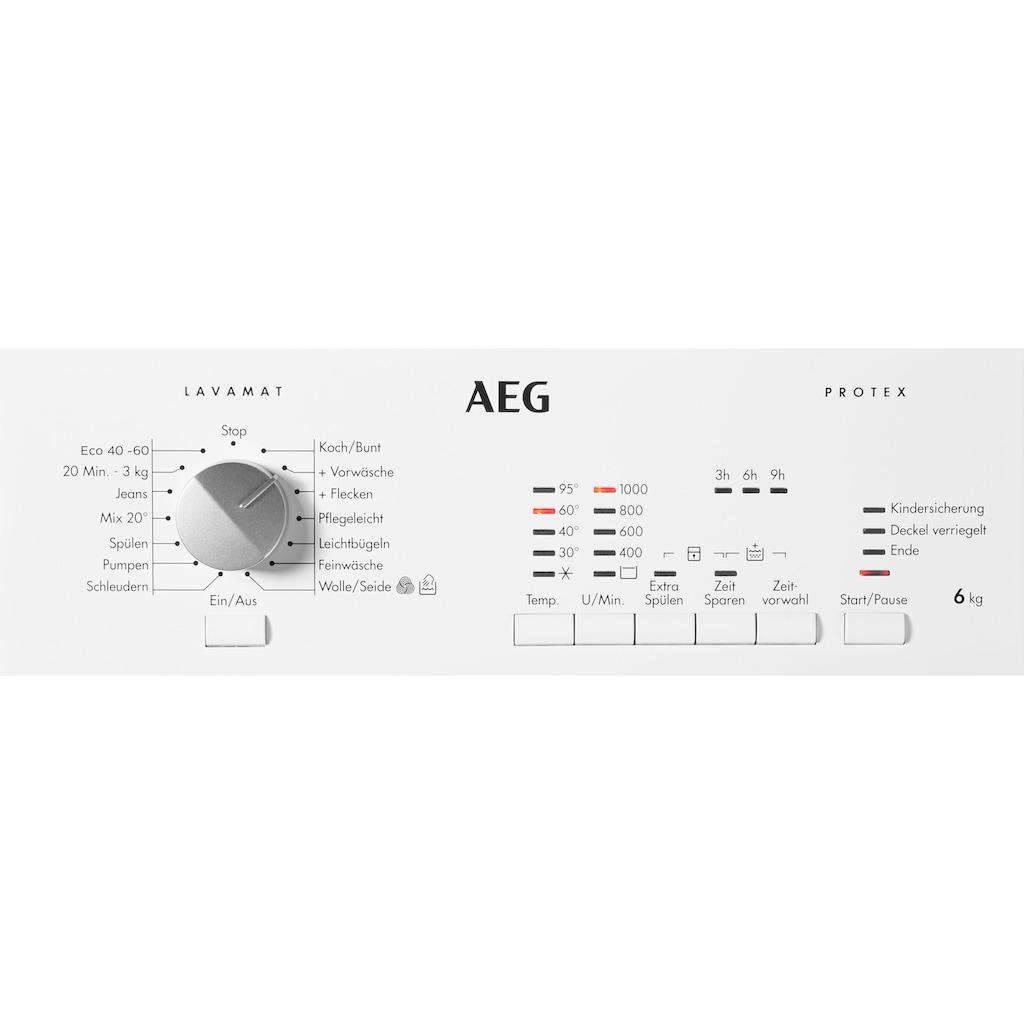 AEG Waschmaschine Toplader »L51060TL«, L51060TL 913 103 501, Nachlegefunktion