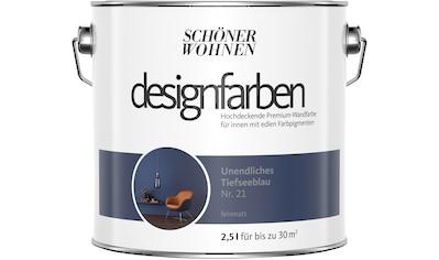 SCHÖNER WOHNEN FARBE Farbe »Designfarben«, Unendliches Tiefseeblau Nr. 21, feinmatt 2,5 l kaufen