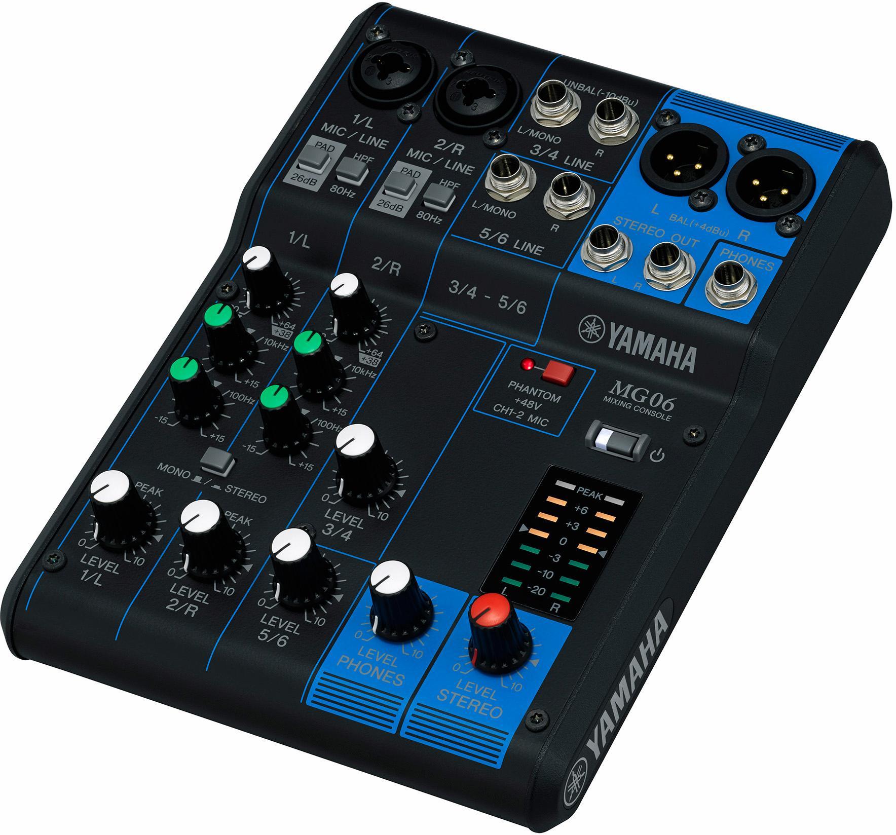 "Yamaha Mischpult ""6-Kanal Mischpultkonsole MG06"" Technik & Freizeit/Technik/Audio, MP3, Musik/DJ Equipment/Mischpulte"
