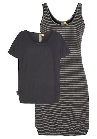 Alife & Kickin Jerseykleid »SunnyAK«, (Set, 2 tlg., mit T-Shirt), sommerliches Kleid in raffinierter 2-in-1-Optik kaufen