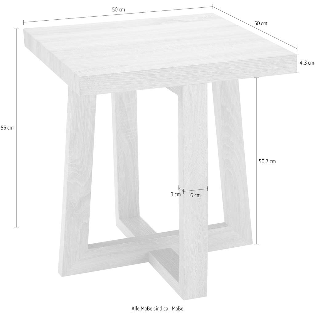 andas Beistelltisch »Sloan«, mit einem besonderen Beingestell, mit einer schönen Holzoptik Tischplatte, Design by Morten Georgsen