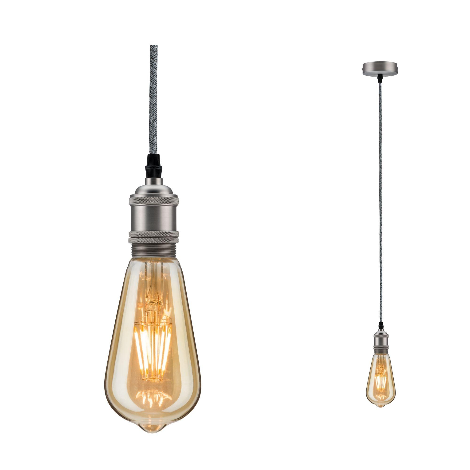 Paulmann LED Pendelleuchte Neordic Eldar max1x20W E27 Grau/Nickel geb 230V Metall, E27, 1 St.
