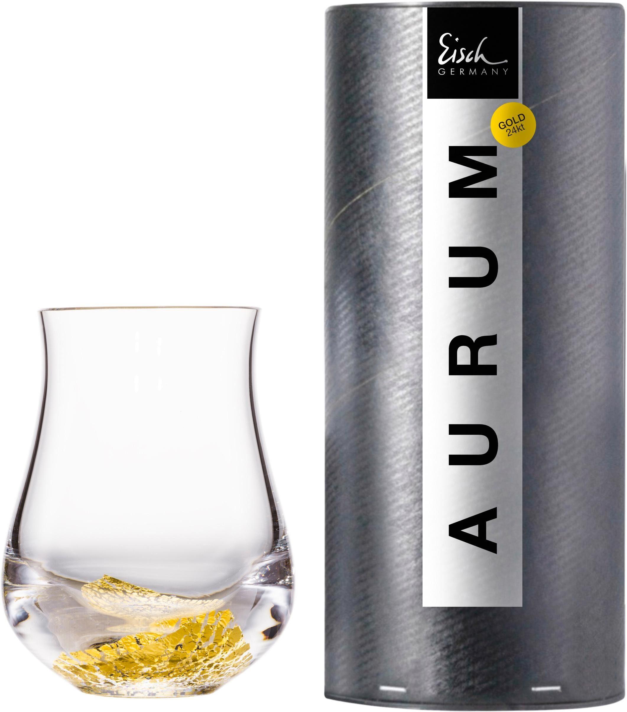 Eisch Whiskyglas Aurum, (1 tlg.), handgefertigt, bleifreies Kristallglas, 360 ml farblos Kristallgläser Gläser Glaswaren Haushaltswaren