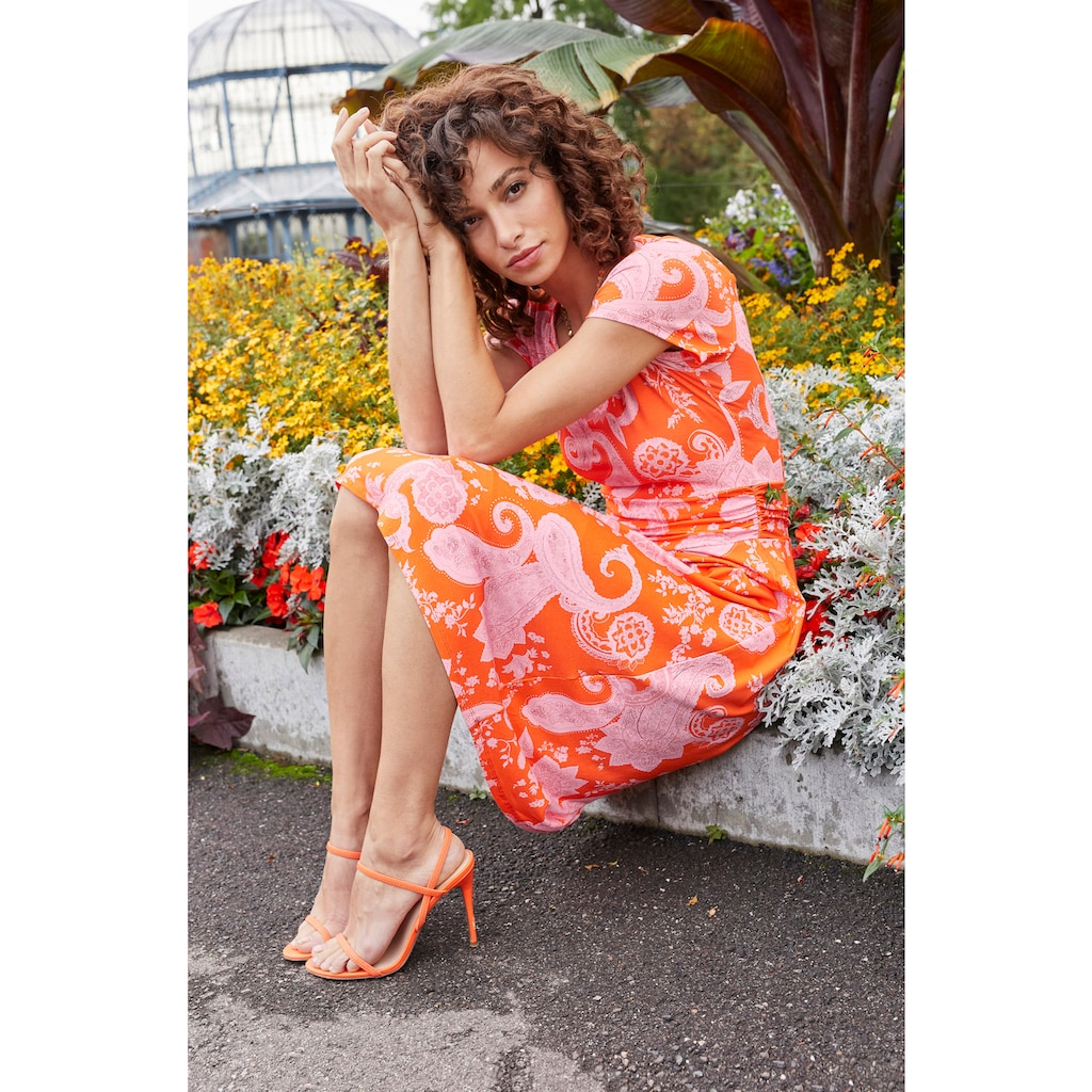 Aniston SELECTED Sommerkleid, mit Paisley-Druck in modischer Knallfarbe - NEUE KOLLEKTION