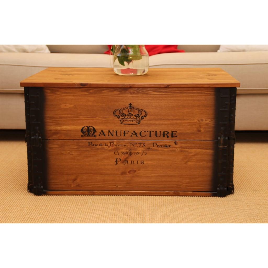 Uncle Joe´s Truhentisch »Manufacture«, im Vintage-Design