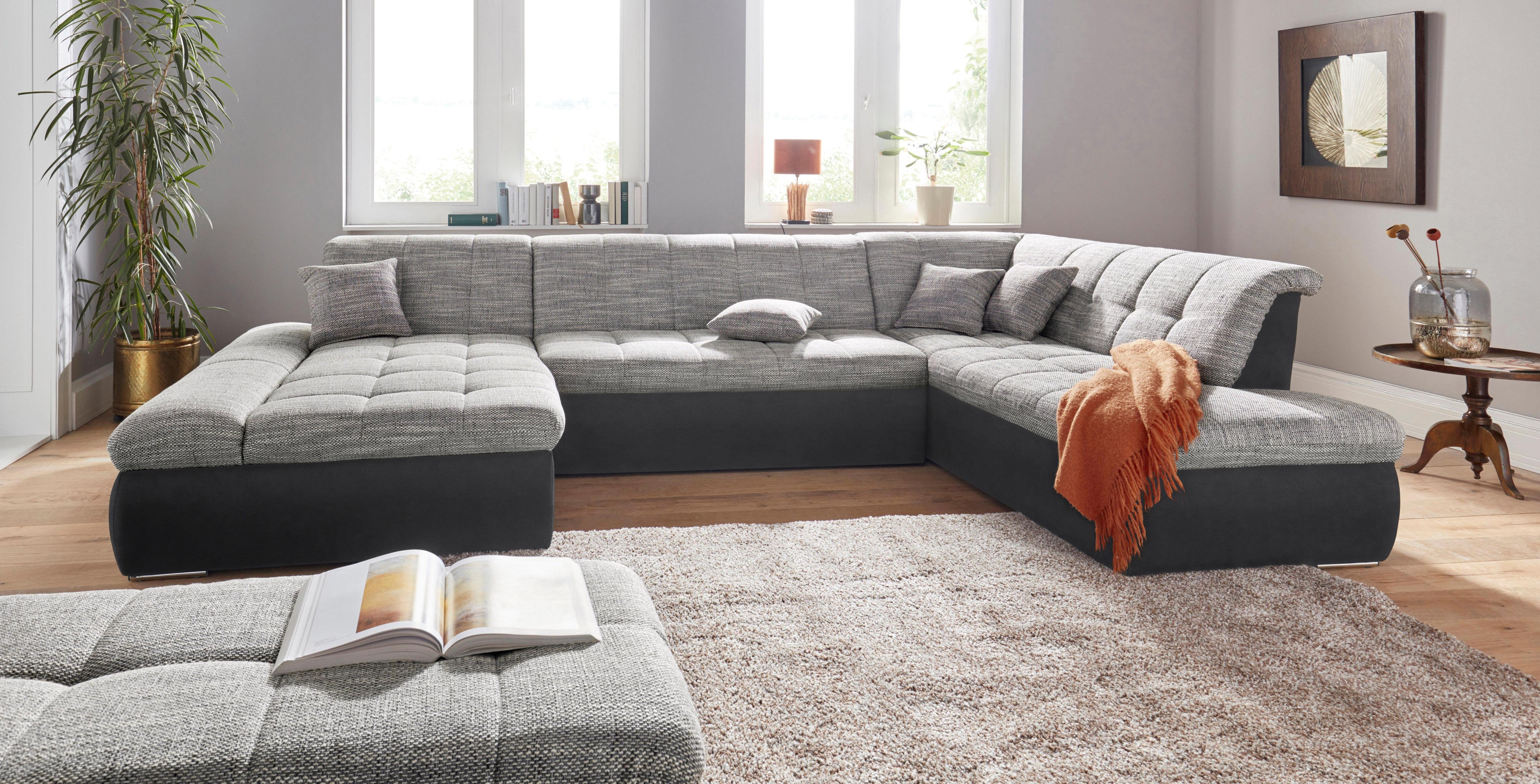Domo Collection Wohnlandschaft Wahlweise Mit Bettfunktion Und