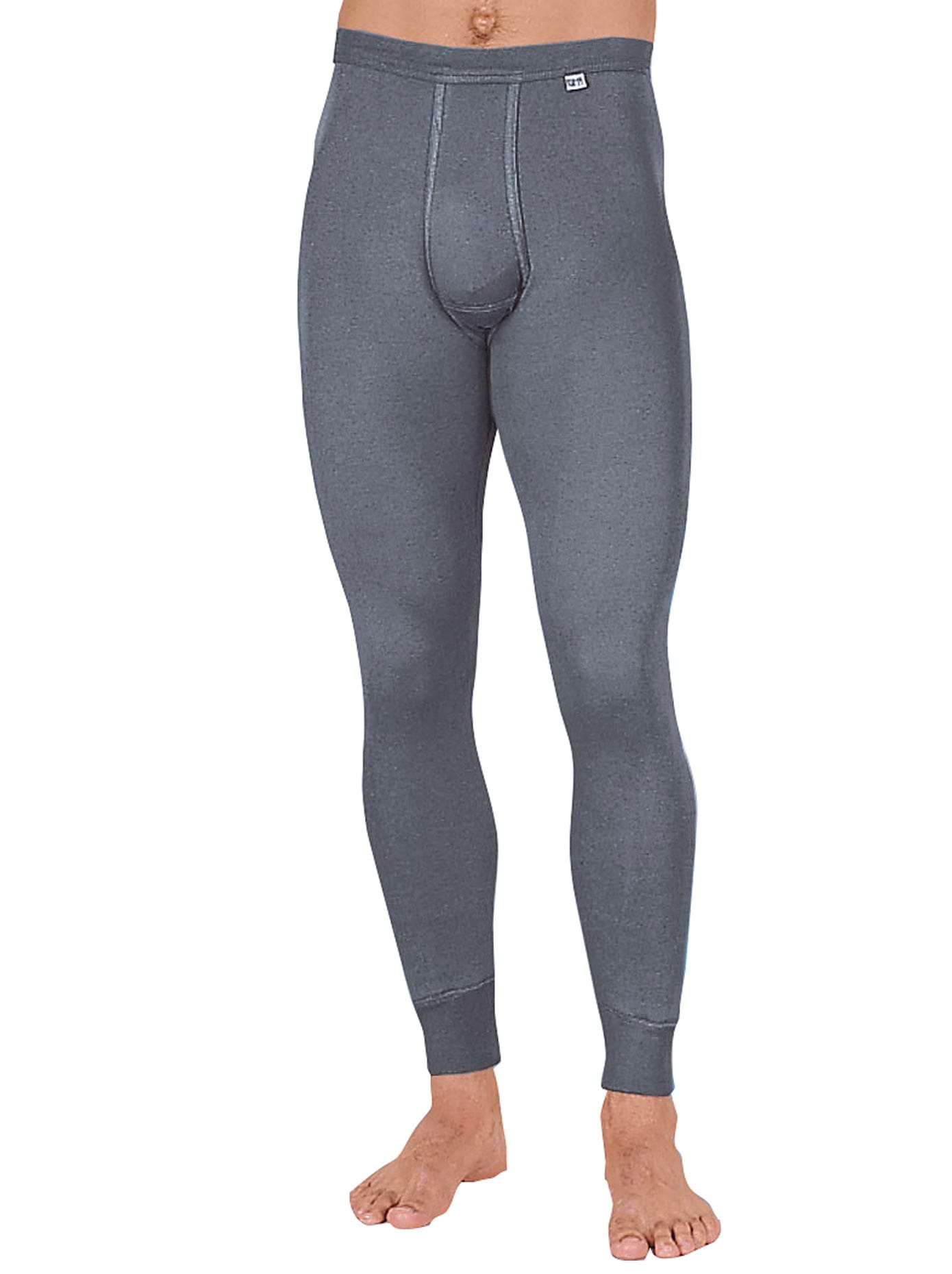 KUMPF Lange Unterhose, (1 St.) grau Herren Unterhosen Herrenwäsche Unterhose