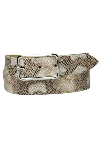 AnnaMatoni Ledergürtel, mit klassischem Schlangenmuster kaufen