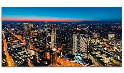 Artland Glasbild »Frankfurt am Main Panorama II«, Deutschland, (1 St.) kaufen