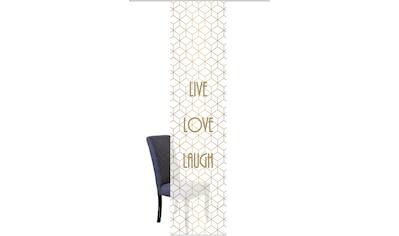 Vision Schiebegardine »LIVE LOVE LAUGH«, HxB: 260x60, BAMBUS OPTIK kaufen