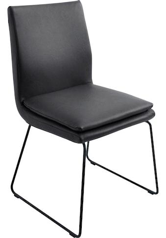 K+W Komfort & Wohnen Esszimmerstuhl »Creso«, mit Sitzkissen und Rundrohrkufe in Metall... kaufen