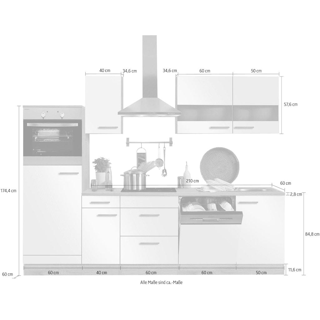 OPTIFIT Küchenzeile »Kalmar«, ohne E-Geräte, Breite 300 cm