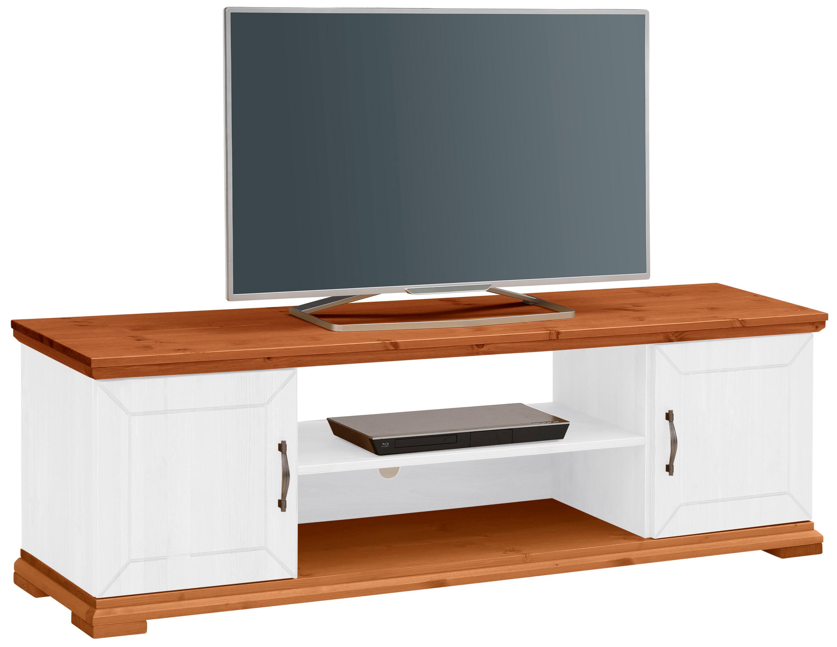 Home affaire TV Lowboard Castello aus massiver Kiefer mit praktischer Kabeldurchführung Breite 157 cm