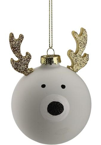 AM Design Weihnachtsbaumkugel »Elch«, (Set, 4 St.), aus Glas, Ø ca. 8 cm kaufen
